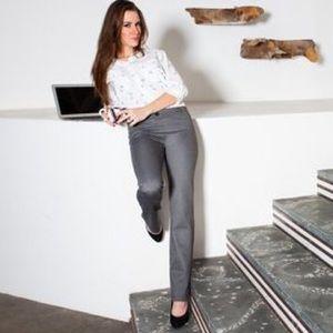 Betabrand Herringbone Dress Yoga Pants Straight M
